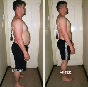 Andries Louw before and after photographs