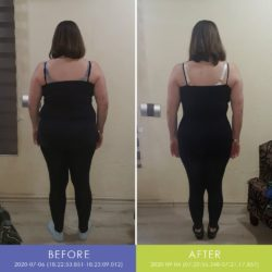 Before and After back of Zelda van Rooyen (Most Centimeters Lost)