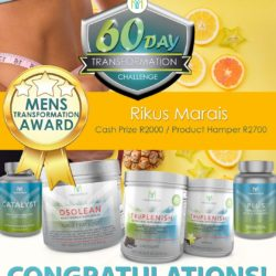 Rikus Marais wins the Men's Body Transformation award